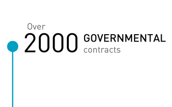 Over 2000 governmental contracts