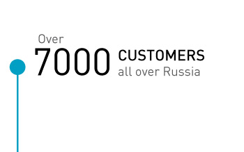Over 7000 customers all over Russia