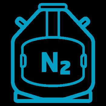 In nitrogen vapors